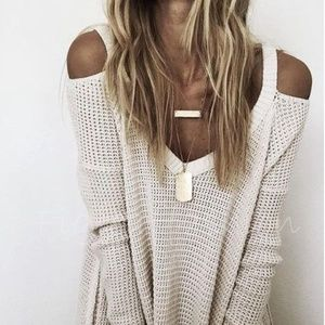 🎉LAST ONE🎉Cold Shoulder Waffle Weave Top